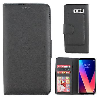 LG Colorfone V30 cartera bolsa (negro)