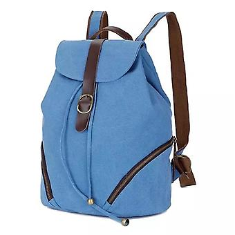 Blue backpack made of durable fabric