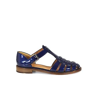CHURCH'S KELSEY BLUE PATENT SANDAL