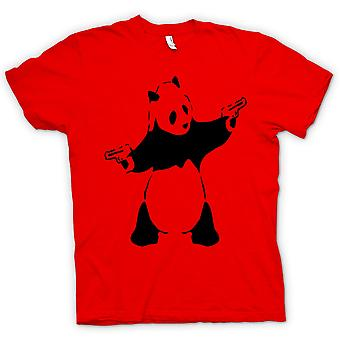 Womens T-shirt - Kids Hoodie - Banksy - Graffiti Wall Art - Panda Pistol