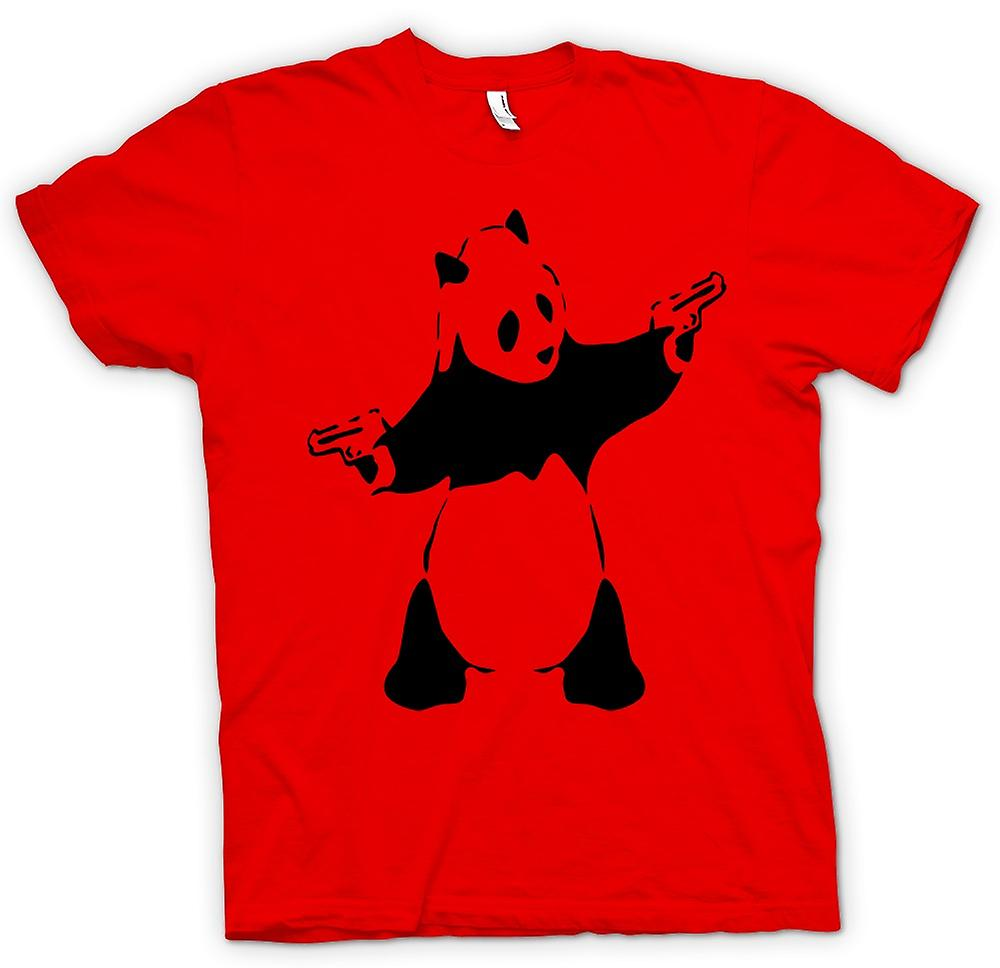 Mens T-shirt - Kids Hoodie - Banksy - Graffiti Wall Art - Panda Pistol