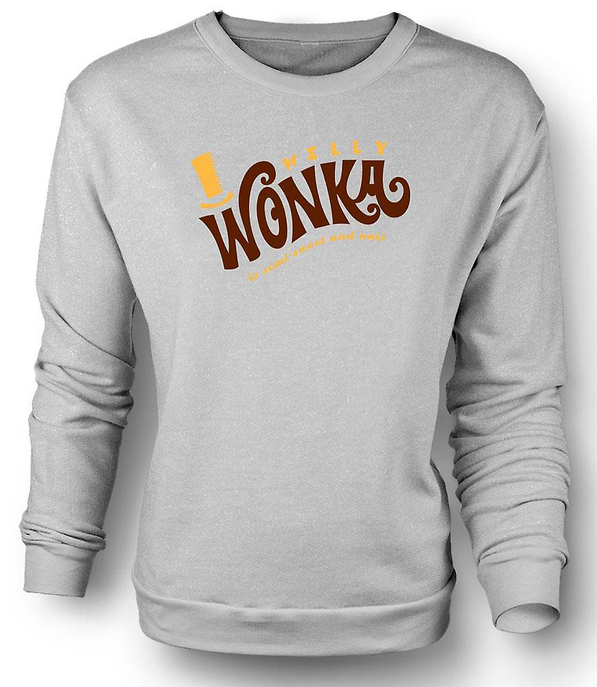 Mens Sweatshirt Willy Wonka og sjokoladefabrikken - BW