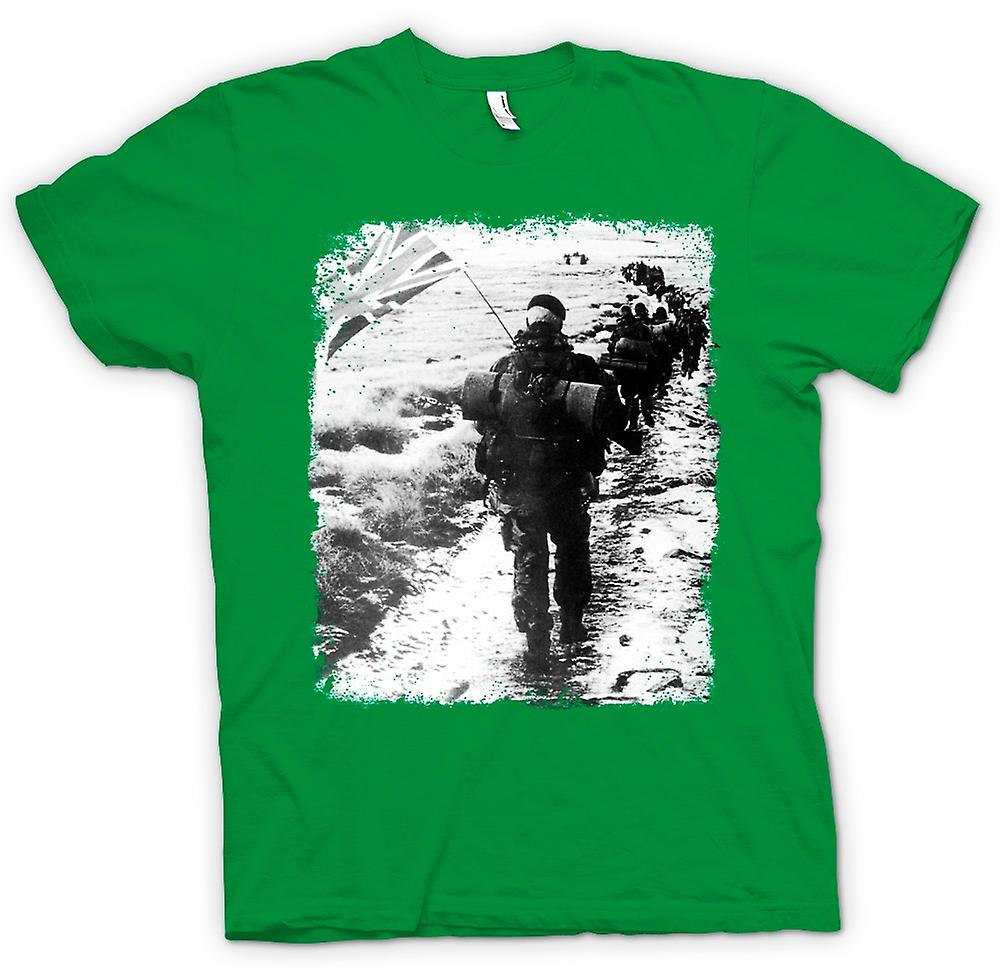 Heren T-shirt-Royal Marines Falkland Yomp