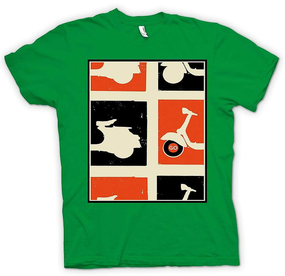 Mens T-shirt - Vespa Scooter - Pop-Art Poster Go