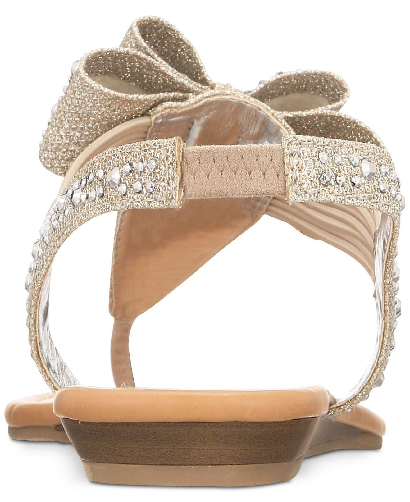 1e13539af22a Material Girl Womens Shayleen Open Toe Casual T-Strap Sandals