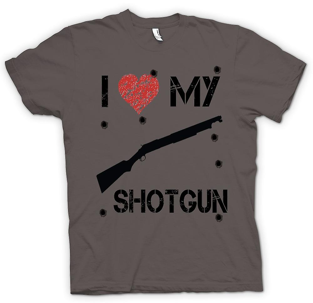 Mens T-shirt -  I Love My Shotgun