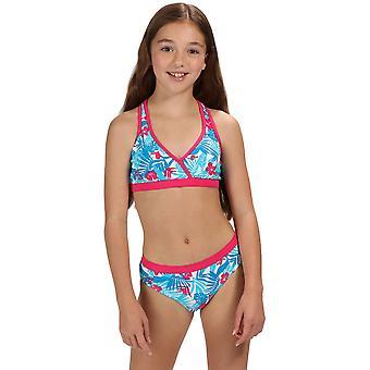 Regatta Girls Hosanna Racer Back Printed Bikini Swim Top