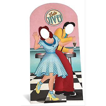 1950er Jahre swing / Jive Tänzern Stand im Karton Ausschnitt / f / Standup