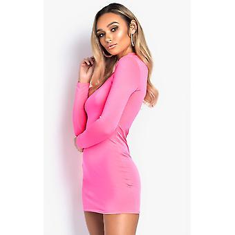 IKRUSH Womens Jinny High Neck Mini Dress