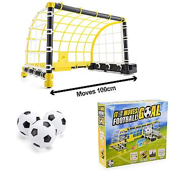 Electronic Moving Football Goal Game Boys Indoor Soccer Training Toy Gift