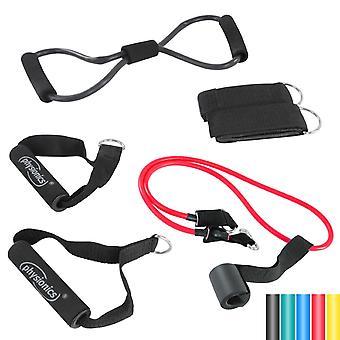 Set tube de résistance élastique 6 8 kg fitness sport musculation 0701035