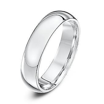 Star Wedding Rings Platinum Heavy Court Shape 5mm Wedding Ring