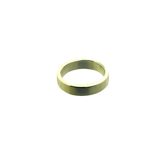 18ct Gold 4mm plain flat Wedding Ring Size P