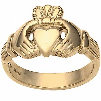 9ct Gold 14x26mm gents Claddagh Ring Size Z