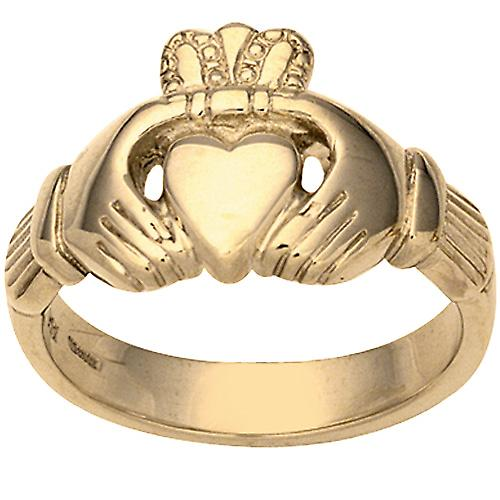 9ct Gold 14x26mm Gents Claddagh Ring