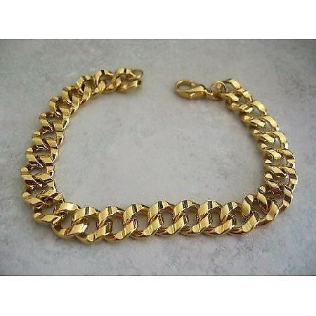 Gold Plated Fashion Foxtail Chain Bracelet 8 inches