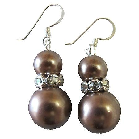 Low-Priced Jewelry Meet Your Budget Bridesmaid Earrings Brown Pearls