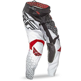 Fly Racing Black-White-Red 2016 Kinetic Trifecta Kids MX Pant