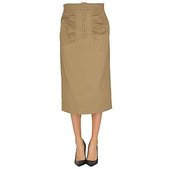 Falda de algodón marrón N ° 21