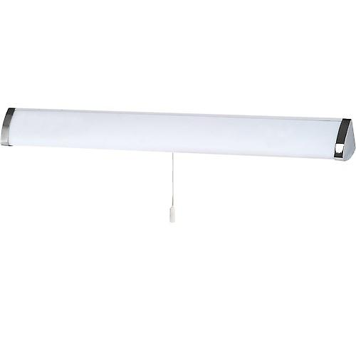 Searchlight 5372CC Bathroom 1 Light White And Chrome Ring Flush IP44 Rated