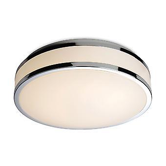 Firstlight-LED de baño redondo a ras de techo luz blanca difusor, cromo ribete IP44-8342CH
