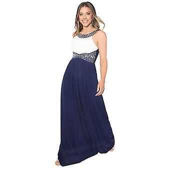 KRISP  Women Diamante Fitted Long Fishtail Party Bridesmaid Wedding Maxi Prom Dress