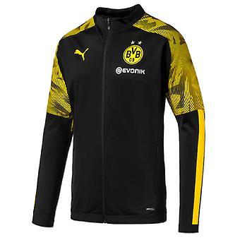 2019-2020 Borussia Dortmund Puma poly Jacket (zwart)-Kids