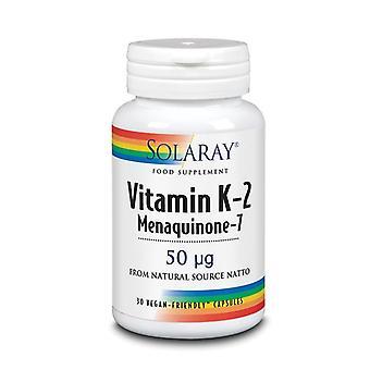 Solaray Vitamin K-2 Menaquinone-7 50mcg Capsules 30 (53642)