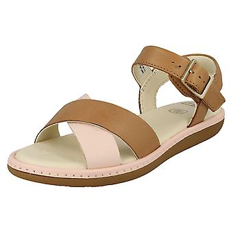Meisjes Clarks Criss-Cross gedetailleerde sandalen Veldleeuwerik Pure K