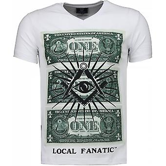 One Dollar Eye-T-shirt-White