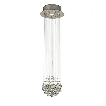 Diyas Colorado Pendant Cluster 1 Light Polished Chrome/Crystal
