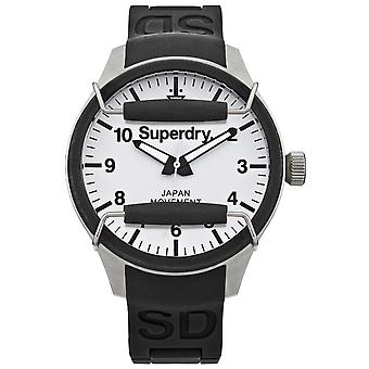Superdry scuba Japanese Quartz Analog Man Watch with SYG124W Rubber Bracelet