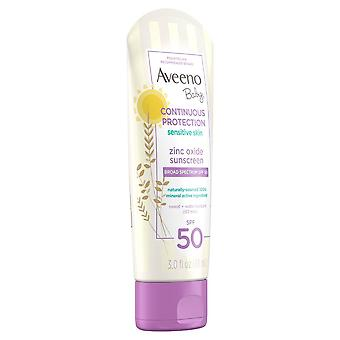 Aveeno baby continuous protection lotion, sensitive skin, spf 50, 3 oz