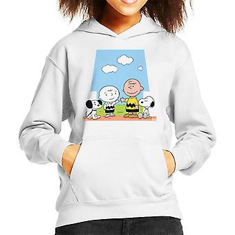 Generations Charley Brown And Snoopy Peanuts Kid's Hooded Sweatshirt