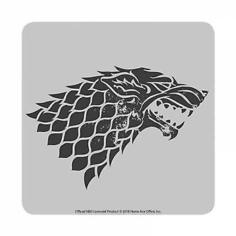 Game Of Thrones Coaster Stark House Sigil new Official Grey