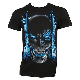 Batman mannen ' s zwart blauw vlammen T-shirt