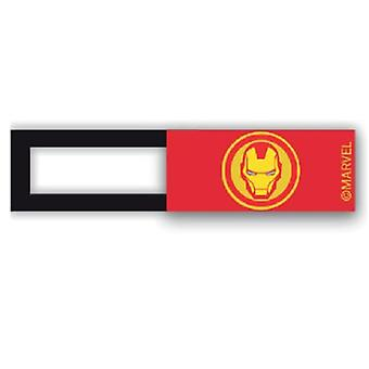 Webcam cover / schuifje  - licentie™ - Iron Man 01 - rood
