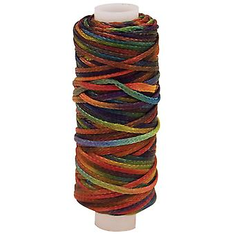 Waxed Metallic Look Braided Cord 25 Yard Spool Multi 11210Mtl 30