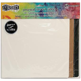 Journal de Dylusions de Dyan Reaveley insère assortiment 12/Pkg-Square DYA49128