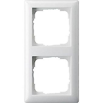 GIRA 2 x Frame System 55, Standard 55 Pure white 021203