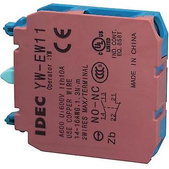 Contact 1 maker, 1 breaker momentary 240 Vac Idec YW-serie 1 pc(s)