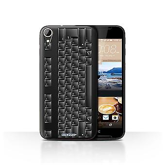 STUFF4 Case/Cover for HTC Desire 830/PC Keyboard/Black/Keys/Buttons