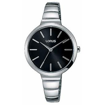 Lorus Womens Stainless Steel Bracelet Black Dial RG215LX9 Watch