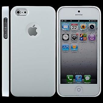 Ultra-tunn gummi TPU täcker för iPhone 5 (vit)