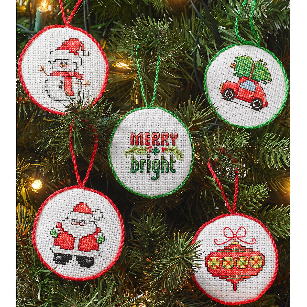 Christmas Minis Ornaments Counted Cross Stitch Kit-2.5