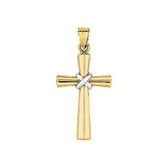14k geel gouden hol Kruis hanger - 1.0 gram