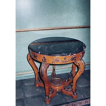 Guéridon table baroque antique style LouisXV MoAl0301