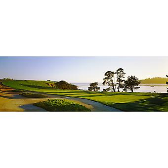 Pebble Beach Golf Course Pebble Beach Monterey County en Californie USA Poster Print
