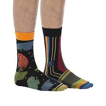 Verticals Gift Pack | 2 pairs of men's crazy cotton dress socks by Dub & Drino