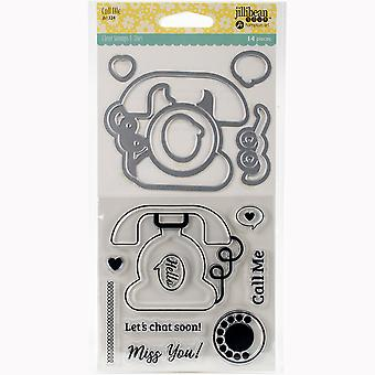 Jillibean Soup Shaker Clear Stamps & Die Set-Call Me JBSTAMP-1324